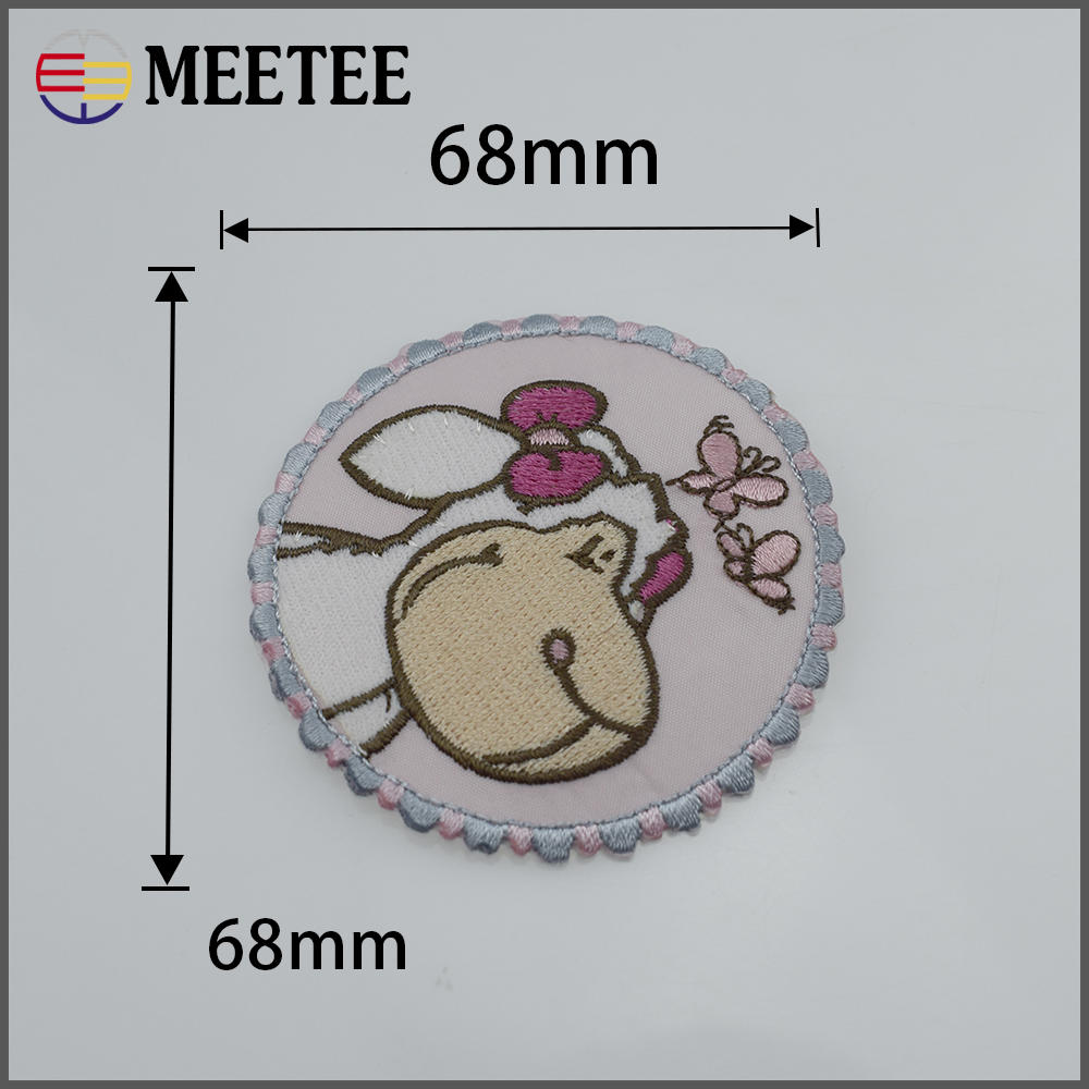 1# 68mm*68mm Lovely sheep High-end technology clothing patch or accessory application of gum patch