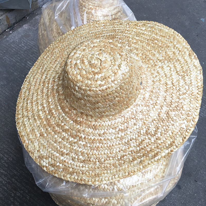 Sombrero natural straw hat sunbonnet Comfortable and practical hat 42cm and 46cm <strong>W100</strong>