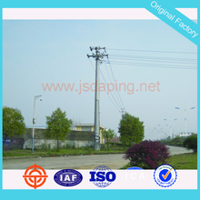 400kv electric steel power transmission line tower pole