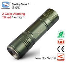 Smiling Shark zoomable XM-L T6 led flashlight torch tactical flashlight 1000 lumens led,high power led torch