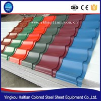 From China Professional production line supply roofing tile,steel sheet tile,Colorful coated steel roofing sheet