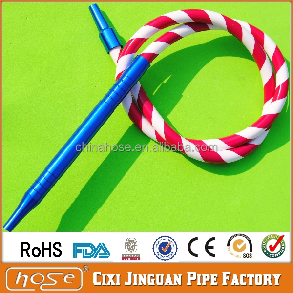 11x17mm FDA Approved Many Colors Elasticity Portable Durable Dream Hookah Shisha Pipe Hookah Smoking Hose Silicone Hose Hookah
