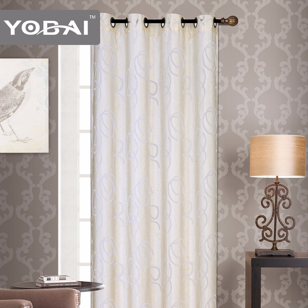 New Arrival Custom Sheer German Fancy Polyester Window Lace Curtain