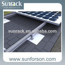 Asphalt shingle roof flashing hook solar panel mounting