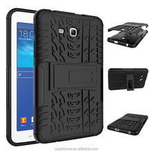 "Dual Layer Hybrid Full-body Protective Cover with Kickstand and Impact Resistant Bumpers For Samsung Galaxy Tab 3 7"" LITE Case"