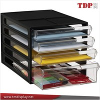 Manufacturer Black 5 Drawer Acrylic Desktop File Storage Organizer, Acrylic File Organizer, Acrylic Office Accessories