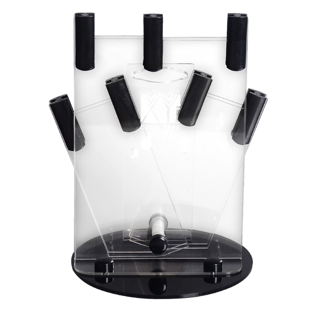 Acrylic Ceramic Knife Holder High-grade Black Kitchen Knife Stand New Arrival Plastic Cooking Knife Block