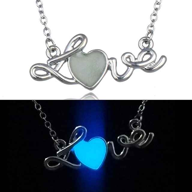 2017 Medical Stethoscope Wire Love Heart Pendant Glow Necklaces