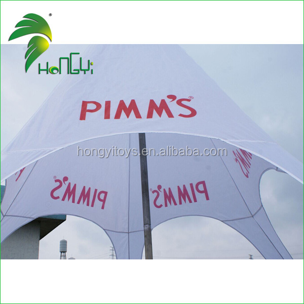 Advertising promotion 5mx6m white star tent