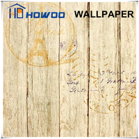 Howoo wood design decoration 3d designer wallpaper