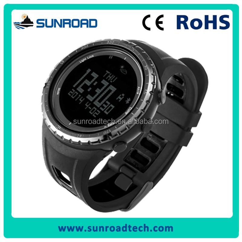 SUNROAD stainless steel smart sports watch bluetooth Android phone fitness tracker watch