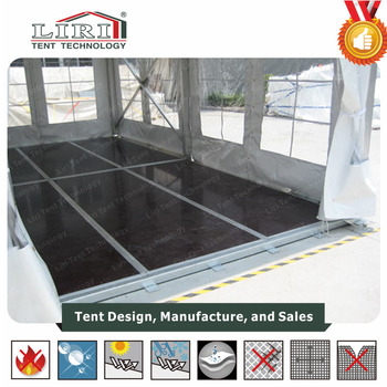 VIP Wooden cassette tent flooring system For Wedding Party Tent