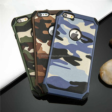 2 in 1 Army Camo Camouflage Pattern back cover Hard Plastic and Soft TPU Armor protective phone cases for iPhone 5 5S 6 6plus 7