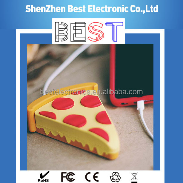 Factory Direct Emoji Emotion Emoticon Cartoon Pizza Style Power Bank