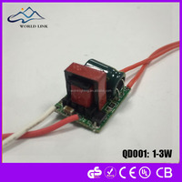 1-3w led mini cob dowlight driver,BIS isolated driver with IC