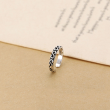 JZ054 fashion jewelry wholesale 925 thailand sterling silver antique S letter ring