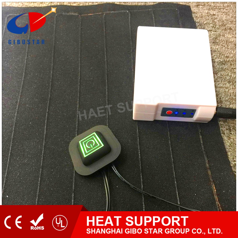 Three color indicator light switch Carbon Fiber far infrare heat system/pad, keep warm and relife pain11.2V 6000mAh battery