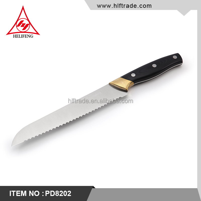 High Quality Kitchen Bread Knife Serrated Frozen Meat Knife