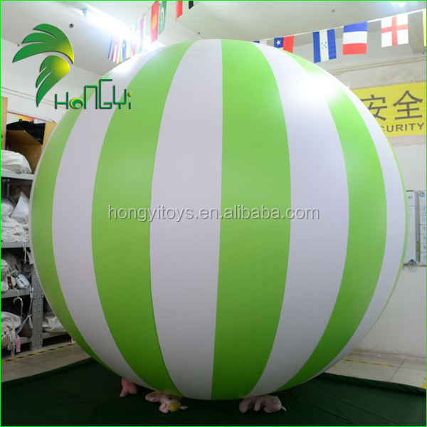 Durable Outdoor Funny Customized Shape PVC Stripe Printing Balloons / Candy Beach Ball