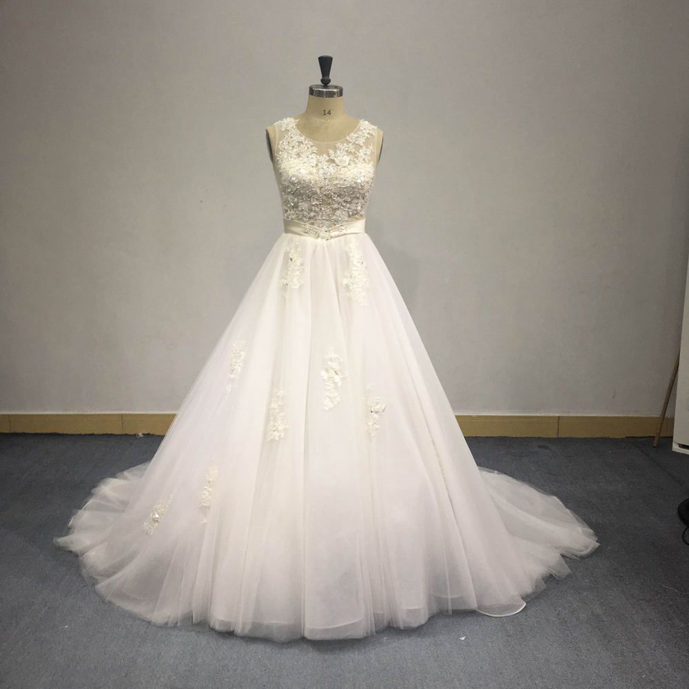 ST16186 Guangzhou Most Popular Europe Luxury Wedding Dress in Heavy Beading