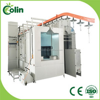 Latest designs new type of low price powder spray booth gas heater