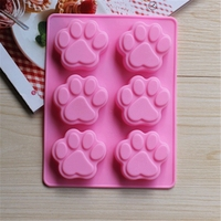Eco-friendly food grade silicone cat feet shaped cake decorating chocolate ice mold bakeware cake mould