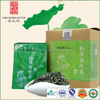 Chinese lotus green tea natural herbal slimming tea
