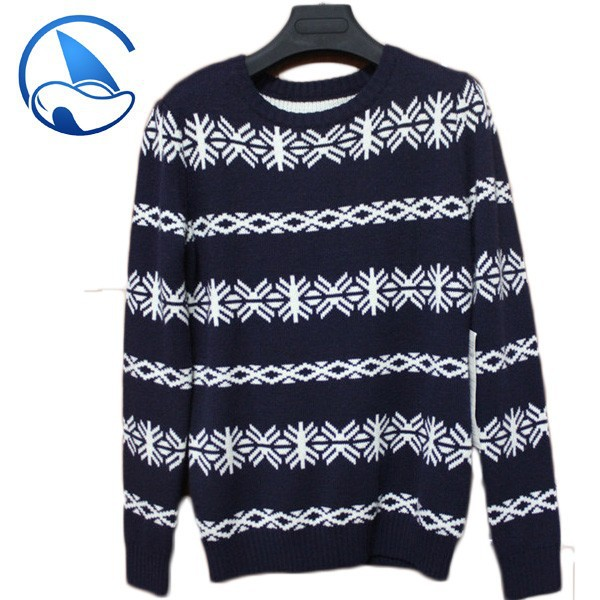 Jacquard wool sweater design for boys
