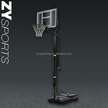 Portable Adjustable Height Basketball Hoop System Kids Backboard Stand 44""
