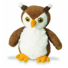 OEM plush brown owl bird toy with plastic eyes