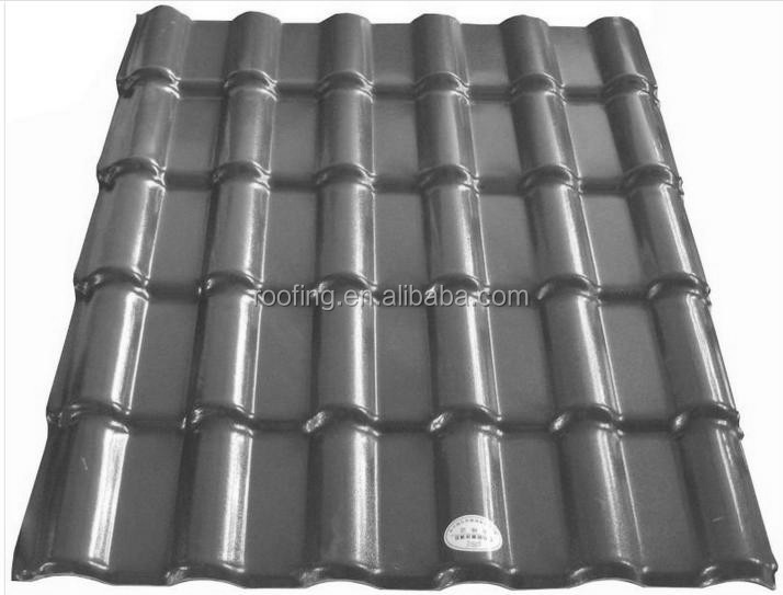 Construction & Real Estate 10 years color warranty anti-corrosive spanish Synthetic resin corrugated plastic roof tile