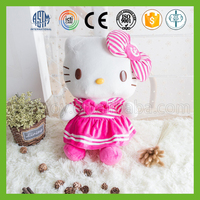Lovely pink custom hellokitty plush doll for girls