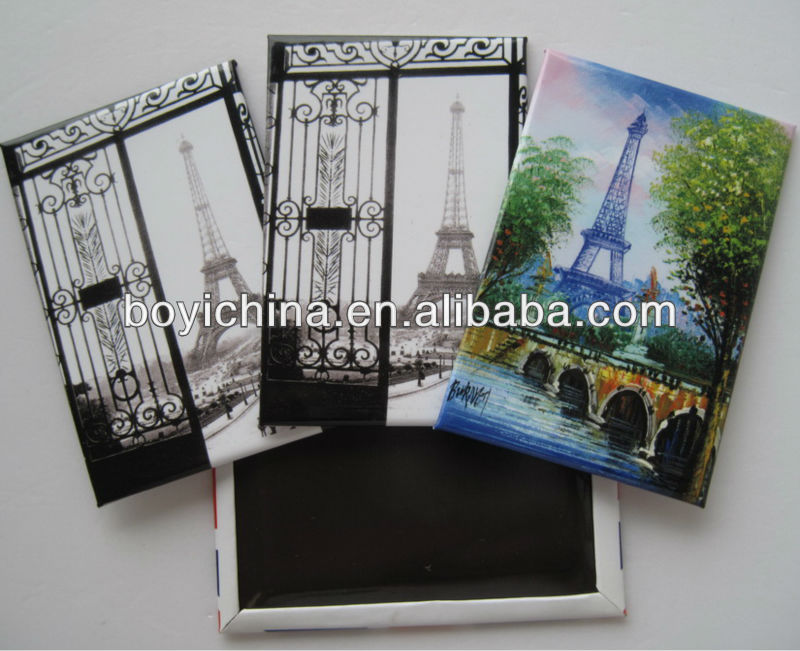 Eiffel tower Tin fridge magnet for gifts and souvenir