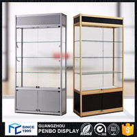 Hot factory price aluminum glass top pedestal display case for sales