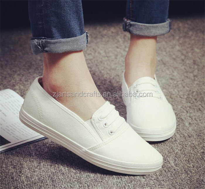 2016 wholesale student slip-on vulcanized casual shoes canvas shoes for unisex