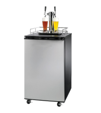 128L 170L Black And Stainless Steel Beer Draft Keg Refrigerator Cooler Tower Kegerator Dispenser Beer Fridge