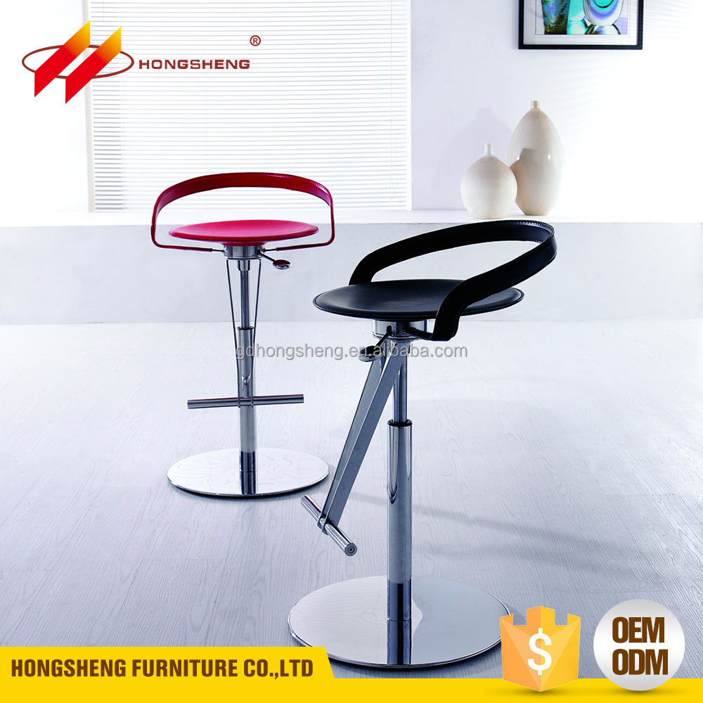 morden metal used bar stools with ABS plastic PVC leather seat