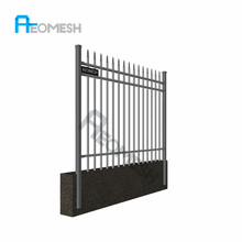 New Design Spear Top Fencing Hot Sale, curved metal fencing/steel bar fence/security fencing spikes