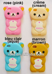 Adorable Cute Rilakkuma Bear Silicone Case Cover for iPhone 4 4S 4G