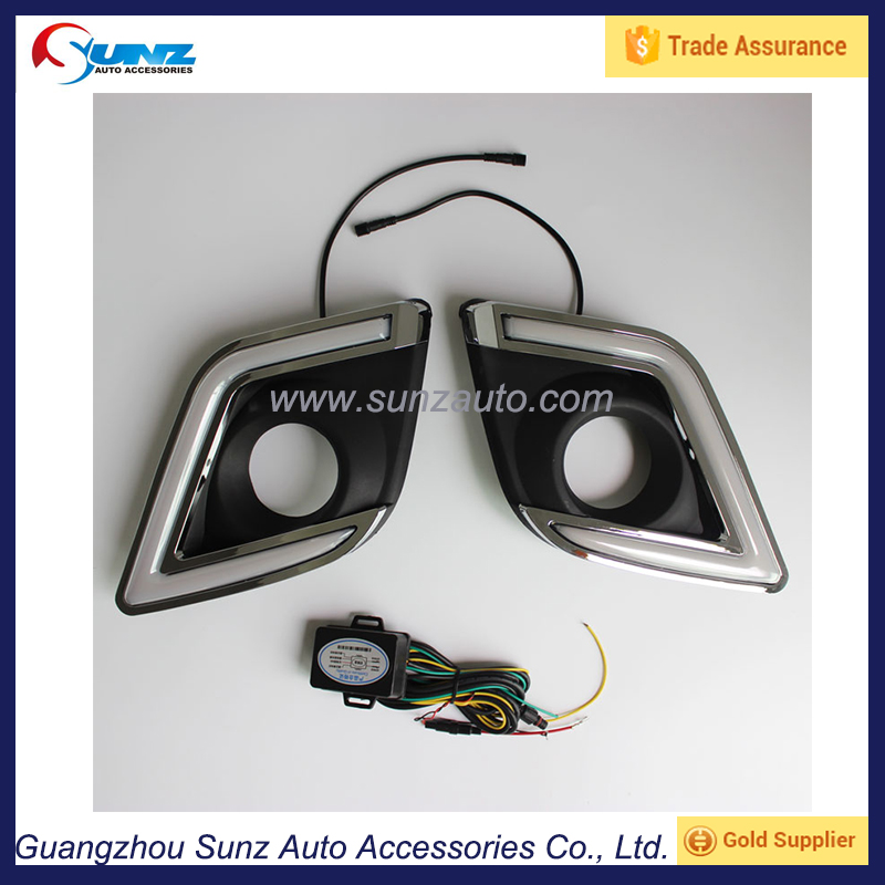 fog light cover with LED for hilux revo 2016 abs chrome fog lamp cover with light toyota hilux revo 2016 exterior accessories