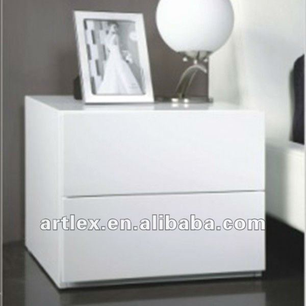 ALB-5208 Modern MDF With High Gloss Bedside Bedroom Table Bedside Cabinets