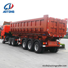 China used low price dump semi trailer, tipper trailer for Kenya