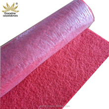 Red color plastic protective film nonwoven needle punched wedding floor carpet