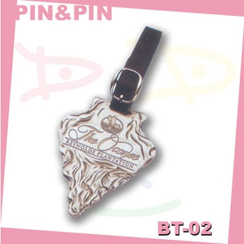 3D zinc alloy metal luggage tags