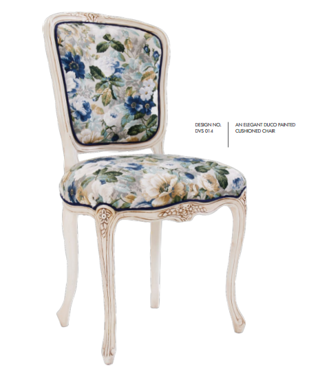 Elegant Duco Painted Cushioned Chairs