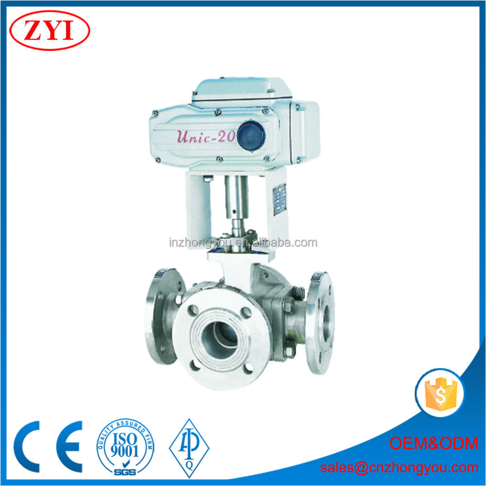 Competitive price pneumatic actuated 2 inch 3 way ball valve