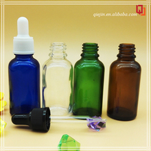 amber small glass vial 15 ml Amber Glass Essential Oil Bottle with European Dro perfume spray glass bottle 15ml amber blue green