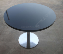 TW Hot sale solid surface used round banquet tables for sale
