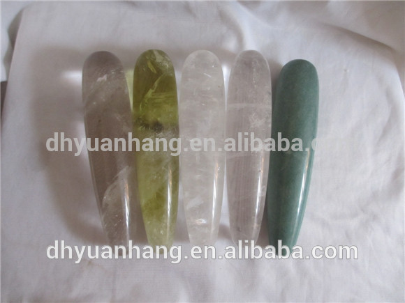 wholesale natural mixed gemstone wands, healing crystal penis, big crystal penis for women