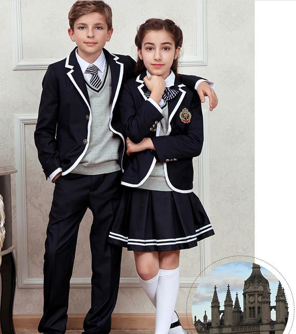 Dark Blue Primary School Uniforms Kids School Uniform